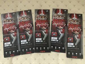 Georgia Bulldogs 2019 Ticket Stub Missouri Rodrigo ...