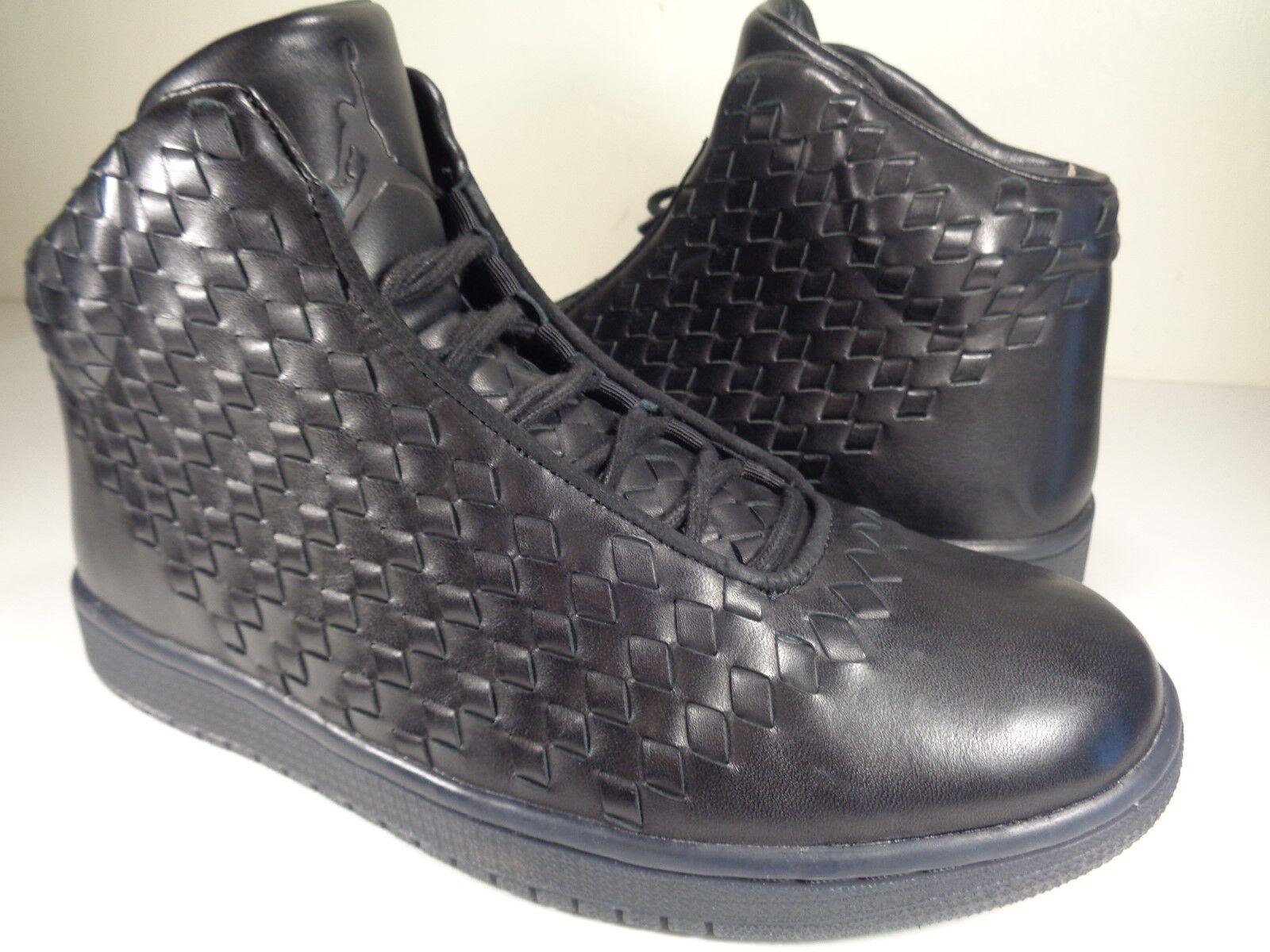 Nike Air Black Jordan Shine Lux Leather Black Air SZ 10.5 (689480-010) 4307d4