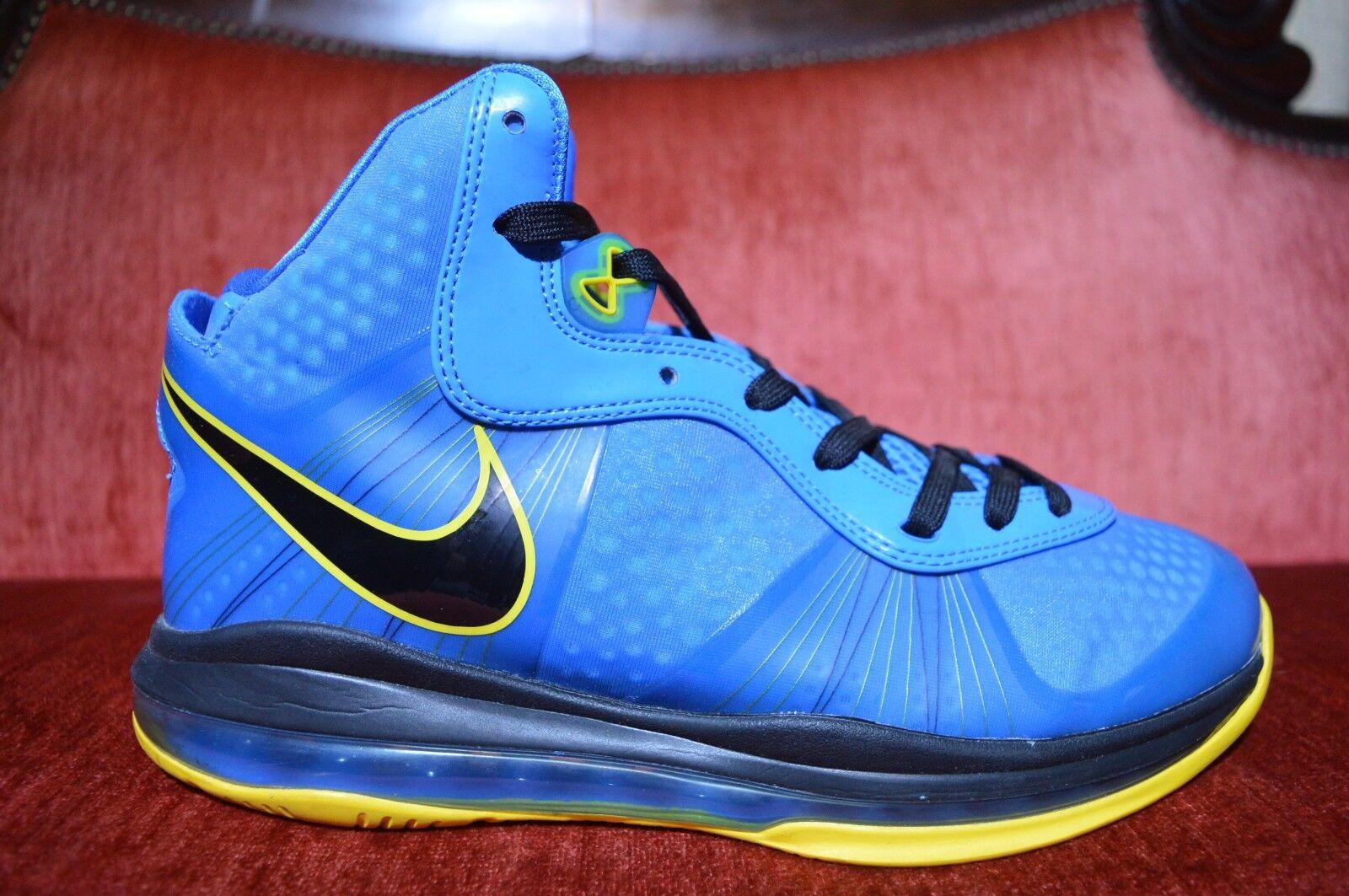 Nike Air Max LEBRON VIII 8 V/2 ENTOURAGE PHOTO BLUE BLACK YELLOW 429676-401 10