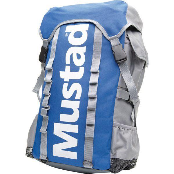 Mustad Rucksack Grau Blau Carry All Gepäck Draußen Hochseeangeln S4002