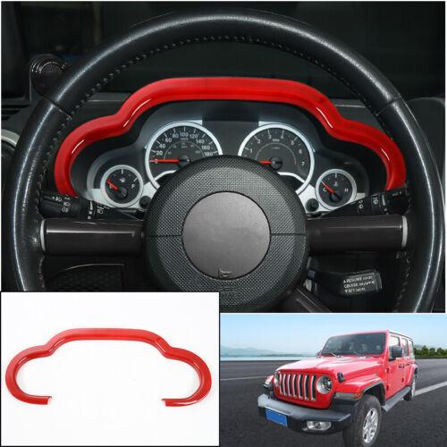 For Jeep Wrangler JK 2007-2010 Red Dashboard Decor Cover Trim Frame Accessories