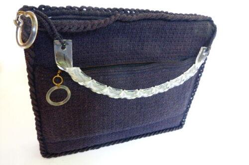 Vintage 1940s Corde Handbag  Purse with Twisted Lu