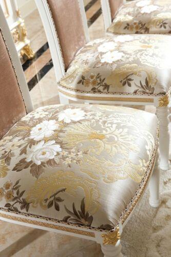 Dining Room Chair 1 Seat Armchair Wood Luxury Class Baroque Rococo Möbel Design,