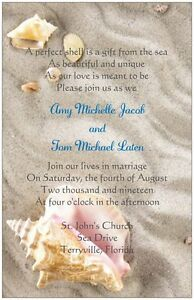 30-50-80-100-Shells-on-the-Beach-6x9-WEDDING-Invitation-Custom-Personalized