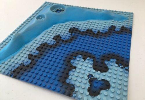 LEGO Raised Baseplate 32 x 32 Crater Plate /& Underwater Pattern Aquasharks 6190