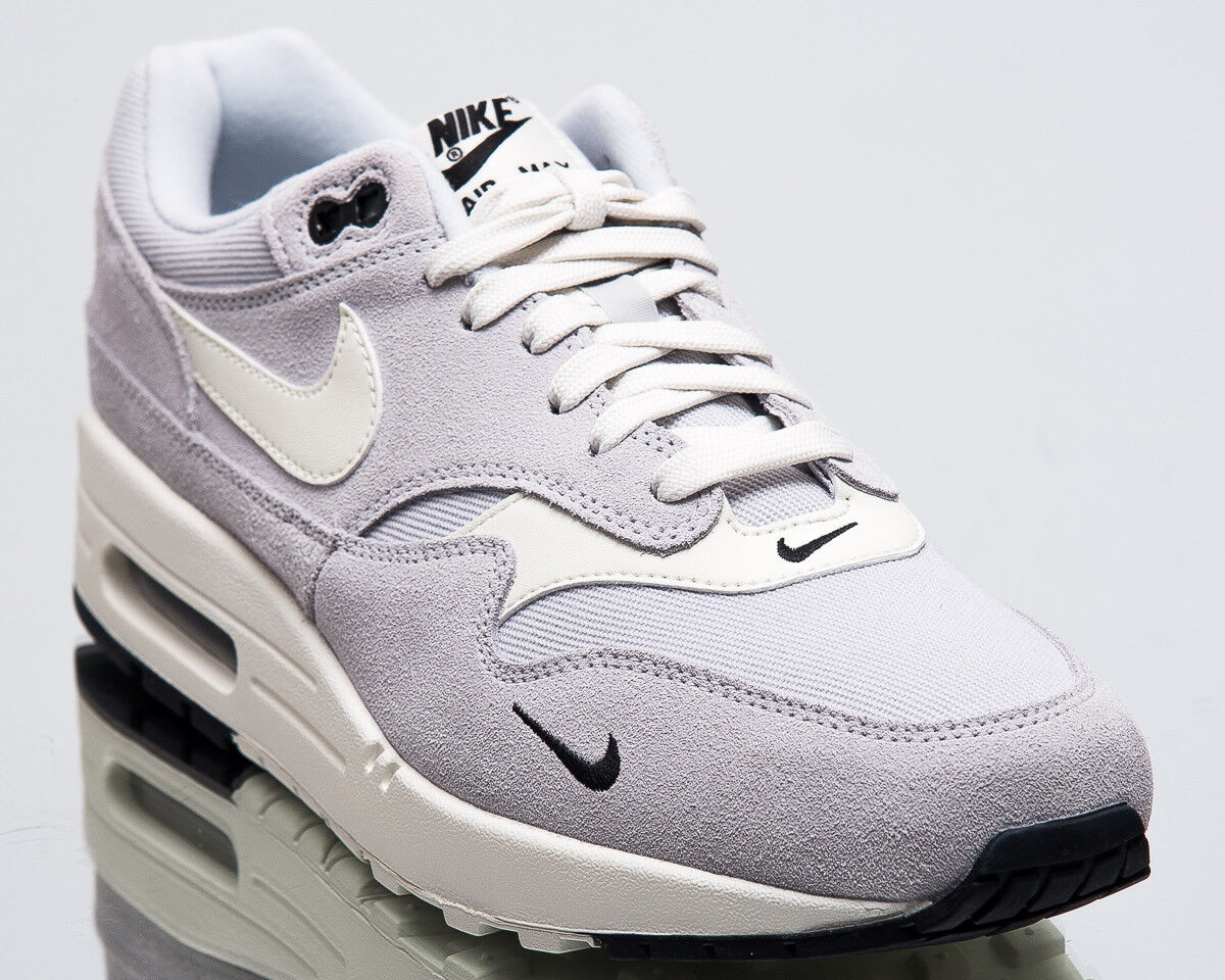 f436683c49d Nike Air Max 1 Mini Swoosh Pure Platinum Men Men Men New Lifestyle Sneakers  875844-