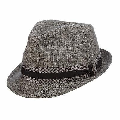 Stetson Mens Linen Blend Fedora Hat