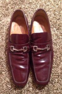 00ffec36db4c6 Men s Rare Vintage Vtg Designer 90s Gucci Brown Leather Dress ...