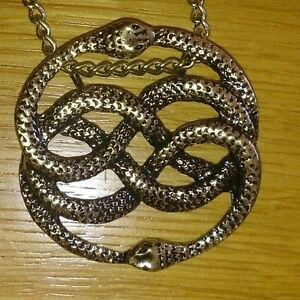The never ending neverending story amulet necklace pendant snake image is loading the never ending neverending story amulet necklace pendant mozeypictures Choice Image