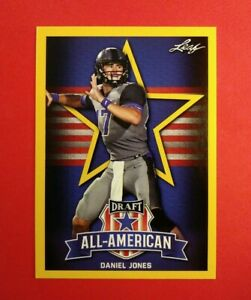 Gold-Parallel-2019-Leaf-Daniel-Jones-Duke-Blue-Devils-All-American-card-70-Rare