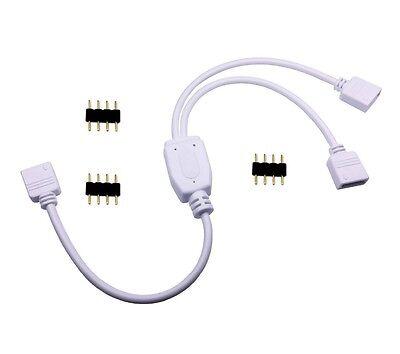 4 Mâle aiguille Connecteur 1 To 4 Way 4-Pin Splitter Câble 3528 5050 RGB DEL STRIP