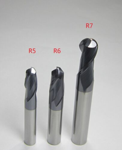 3PCS Diameter 10mm 12mm 14mm HRC45 Carbide Ball Nose End Mills set CNC for steel