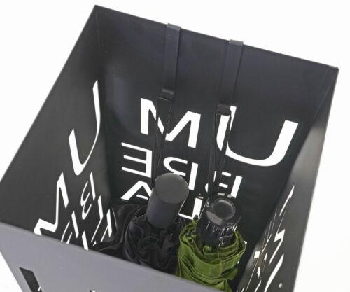 Regenschirmständer Schirmhalter Schrift B-Ware Schirmständer MCW-C78 schwarz