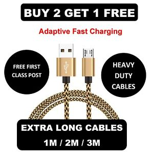 1M-2M-3M-Long-Micro-USB-Data-Sync-Charger-Cable-Lead-For-Samsung-Android-Phones