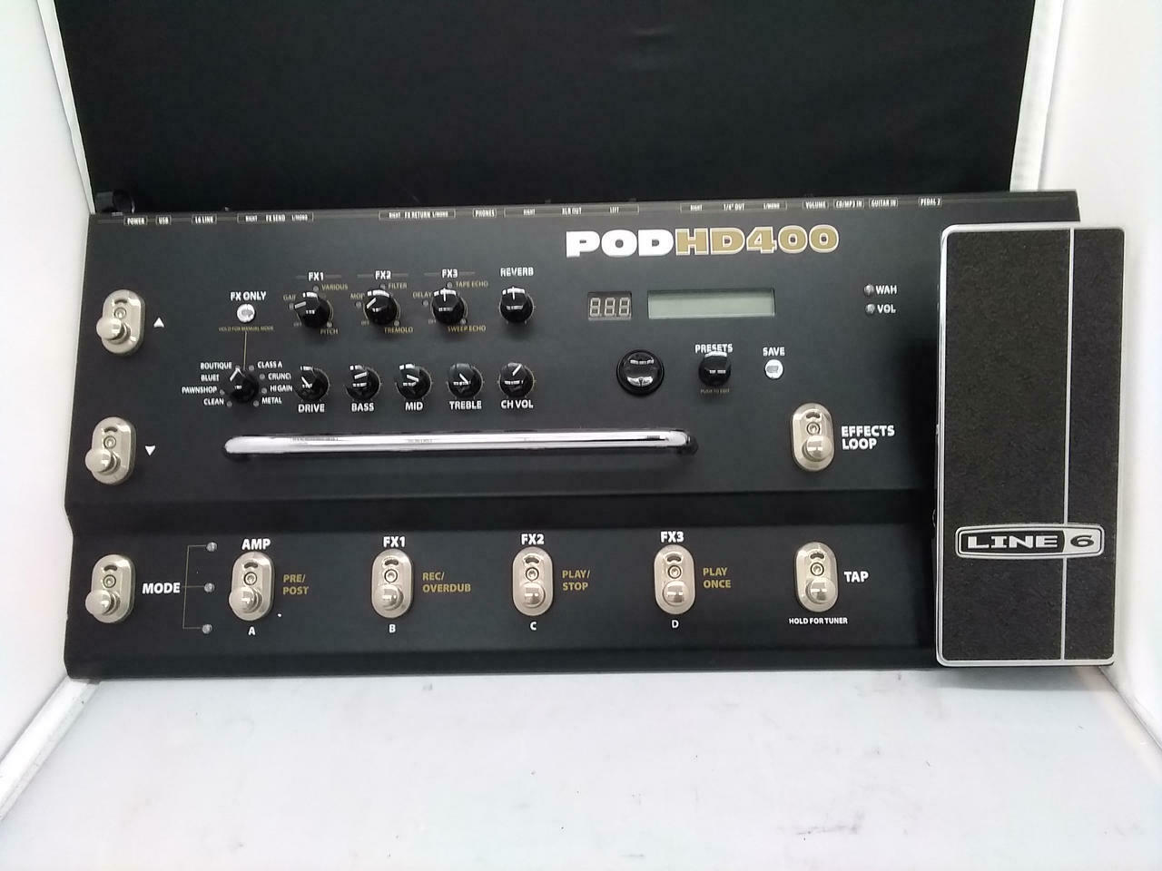 Line 6 POD HD400 HD Multi Effects Guitar Bass Pedal w FROM JAPAN GOOD CONDITION