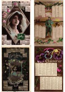 CALENDAR-CALENDARS-MONTHS-10-Vintage-Postcards