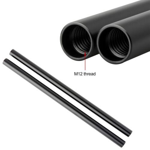 """NICEYRIG de Aleación de Aluminio Negro 30cm 12/"""" Barra Larga carril de Cámara para carril de 15mm"""