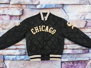 CHICAGO-WHITE-SOX-STARTER-USA-BOMBER-VINTAGE-JACKE-MBL-BASEBALL-GR-L-WIE-NEU