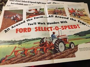 1959 Ford 601 701 801 Tractor Large Brochure Troy Ohio