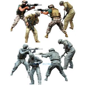 1-35-Scale-Modern-US-Soldier-Team-Resin-Model-Figure-Kits-Unpainted-Unassembled