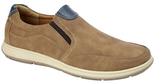 Mens Shoes Slip On Lightweight Twin Gusset Casual Smart Leisure Size