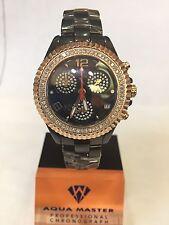 1.25t Techno by JPM Ladies Diamond Black Ceramic Watch Joe Rodeo Aqua Master115S