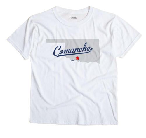 Comanche Oklahoma OK Okla T-Shirt MAP