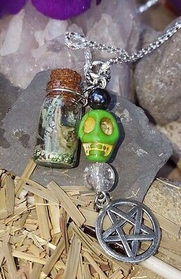 Money Drawing PENDANT Skull Charm Power Energy Wiccan SPELL Pagan  WITCHCRAFT | eBay