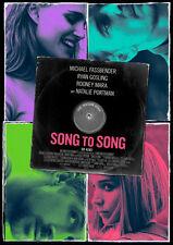 SONG TO SONG - Orig.Kino-Plakat A1 - Michael Fassbender, Ryan Gosling - Gerollt