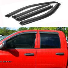 For 2002 2009 Dodge Ram Quadcrew Cab 4pc Smoke Door Window Visor Rain Guards Fits 2008 Dodge Ram 3500