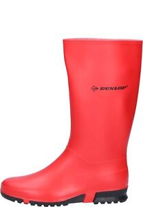 Dunlop Sport Ladies Womens Waterproof Wellington Boots Red Black