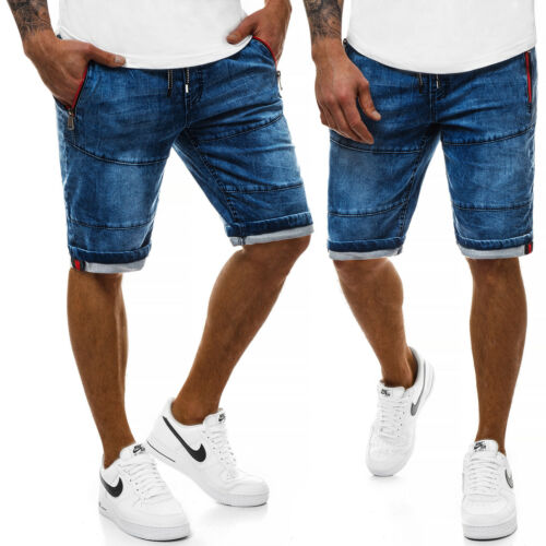 Kurzhose Shorts Kurze Bermudas Jeans Sommer Hosen OZONEE RF//HY348 Herren