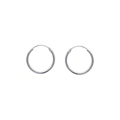 Boucles d/'oreilles Créoles 2,5 cm Classique ARGENT NEUF