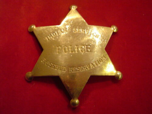 Reservation Lawman BADGE: Indian Police Native American Rosebud