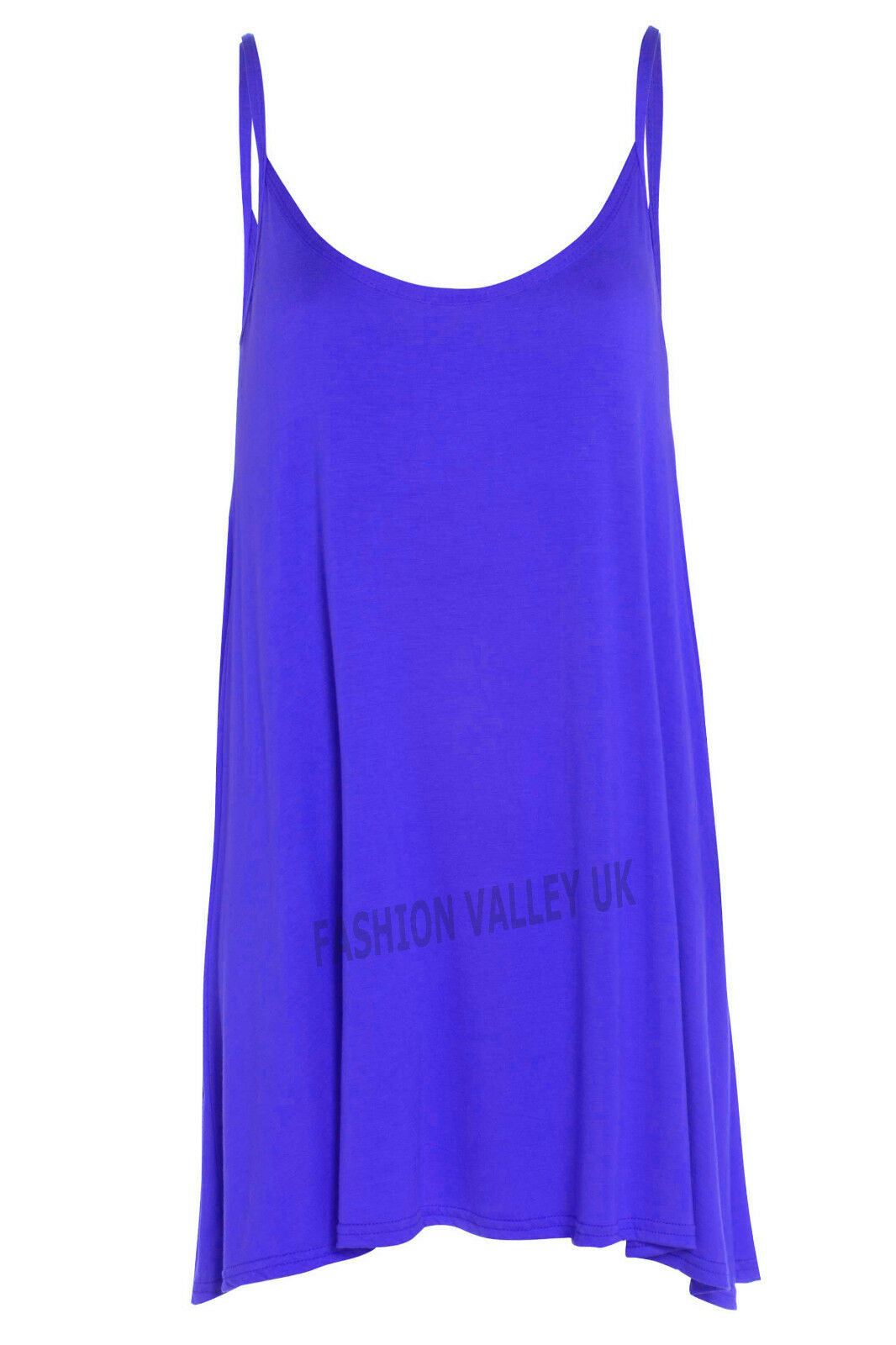 New Womens Strappy Camisole Cami FlaRouge Skater Strappy Womens Swing Mini Dress Top 8-22 b1d5c3