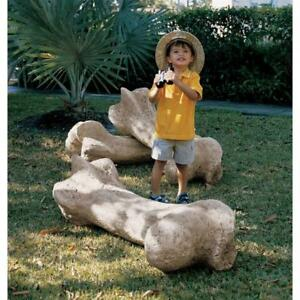 Image Is Loading Humongous Jurassic Fossil Dinosaur Bone Garden Sculpture  Outdoor