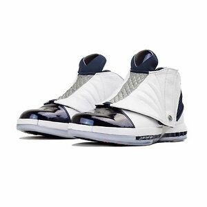 Nike Air Jordan 16 XVI Retro White Midnight Navy 683075-106 Basketball Shoes 9.5