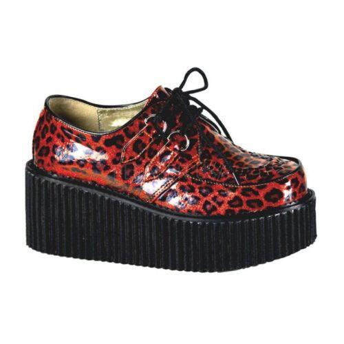 Mezza Demonia Lacing Creeper Party 208 Patent Leolook Punk Red scarpa Rock Eg7qgCw