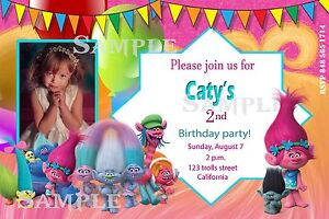 Trolls invitations personalized disney trolls invites birthday image is loading trolls invitations personalized disney trolls invites birthday party filmwisefo