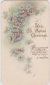 IMAGE-PIEUSE-HOLY-CARD-SANTINI-LES-ANGES-GARDIENS-IMAGE-DOUBLE-BLEUETS-Bouasse