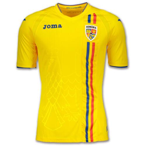 taglia M Romania Jersey L Joma Romania Home Maglia XL ROMANA DE FOTBAL Maglietta