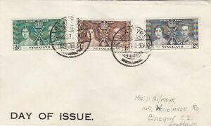 Copieux Nyasaland:1937 Couronnement Situé Sur La Couverture à L'Écosse-afficher Le Titre D'origine
