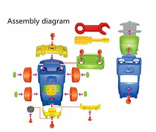 Take-apart Removable Jeep Assembly Puzzle Toy 27 Pieces Gift for Children 3+