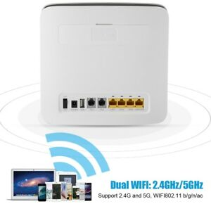 300Mbps 4G LTE CAT6 CPE 2 4G/5G WiFi Wireless Router USB
