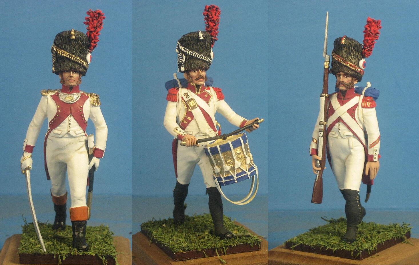 Napoleonkrigen {65533; Franska 3 e rgt kejserlig Guard 65533; 60mm Hög metallfigur