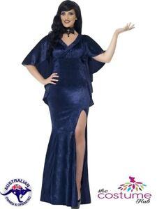 16 PLUS Size 30 Ladies Halloween Sorceress Long Dress Gown Costume