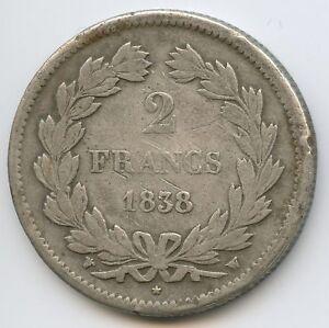 Louis-Philippe (1830-1848) 2 Francs 1838 W Lille
