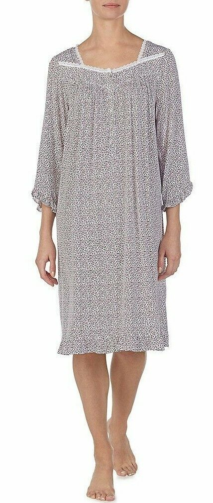 Eileen West Women's Berry Bud Printed Ballet-Length Micromodal Spandex Nightgown