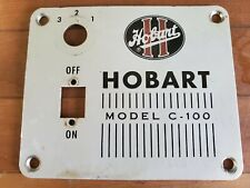 Hobart C 10010 Quart Mixer Black Switch Style Switch Plate For Parts Only