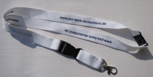 T138 PSA Bank Schlüsselband Lanyard NEU